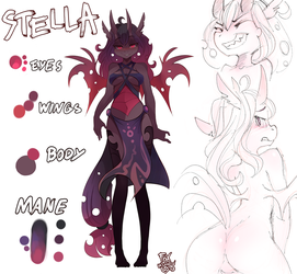 Stella reference sheet by FoxInShadow