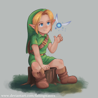 Link - Ocarina of Time by FallingWaterx