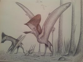 gregarious pterosaurs by spinosaurus1