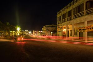 Birth Town's night lights by Kisarisary
