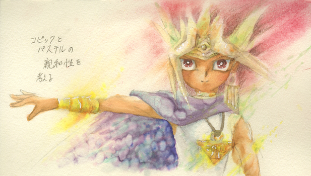 Pastels and copic markers by Inakunaru-Yagi