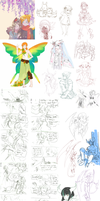 Pokimono sketch dump 7: ALL THE CHILDREN by DingDingy