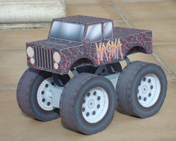 Monster Truck Papertoy - Magma Custom by Sinner-PWA