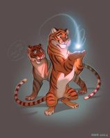 Tigars by VixieArts
