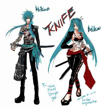 Mikuo Knife by phantomofdevil