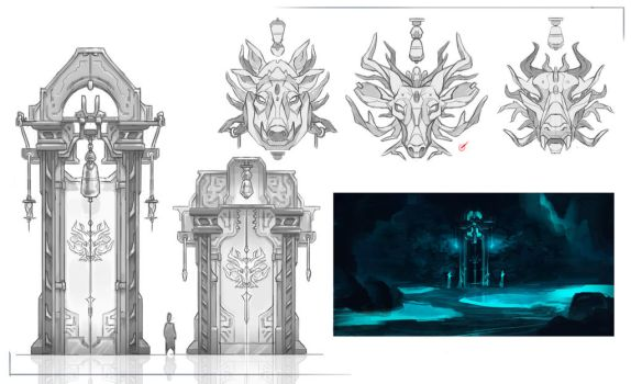 Crystal Cave Entrance Designs by aquanoctis