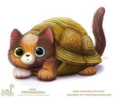 Daily Paint 1825# Tortiseshell by Cryptid-Creations