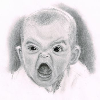 Angry Baby by AmyVanHym