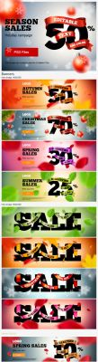 SEASON SALES banners by TIT0