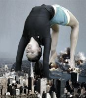Giantess Nina Dobrev Stretching The Hudson by GiantessStudios101