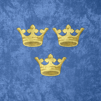 Kingdom of Sweden ~ CoA Grunge Flag (1525 - ) by undevicesimus