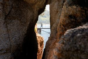 Natural window on the beach of Naoshima by stephane-bdc