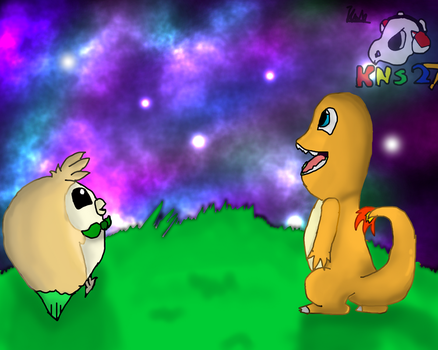 [Pokedraw Daily #5] Watching The Galaxy by KNS27