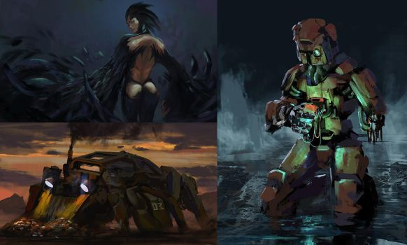 Speedpaints 26082017 (with process video) by novaillusion