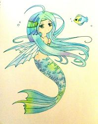 chibi mermaid by astridje