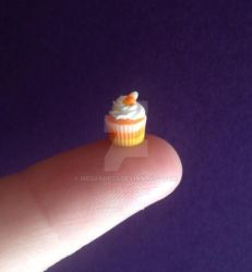 Miniature candy corn cupcake. by MeganHess