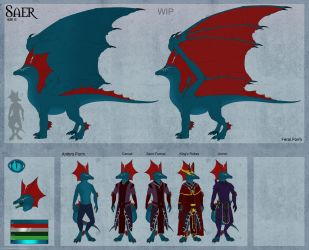 WIP: Saer Reference Sheet by DemonDragonSaer