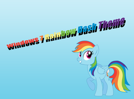 Windows 7 Rainbow Dash theme by PlatinumRarity