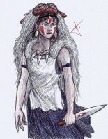 Mononoke Princess sketch by RodWolf