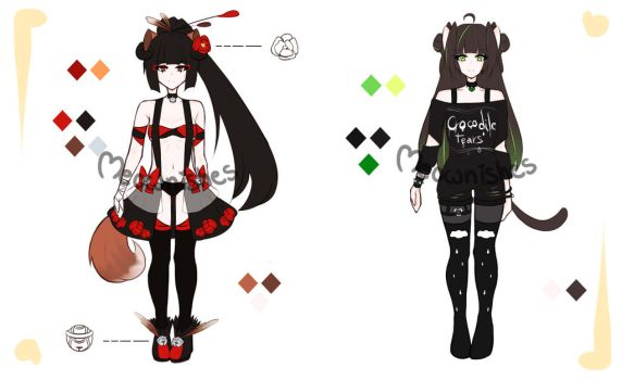 [Open 1/2] Adoptables 5$/500 points by Meownishes