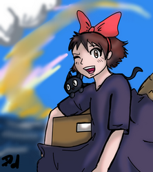 13 Days of Ghibli Day 2: Kiki's delivering by Devious-dolly