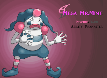 Mega Mr. Mime (gif) by AlphaXXI