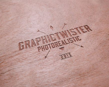 Realistic Wooden Logo Mockup Templates by graphictwister