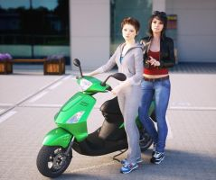 Double load on scooter by pnn32