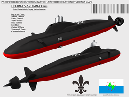 Deliria Vandaria Class Nuclear Submarine by Stealthflanker