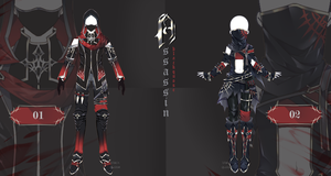 [closed] Assassin Outfit Adopts | Auction by Black-Quose