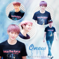 Onew (SHINee) PNG PACK by Maxiprenses