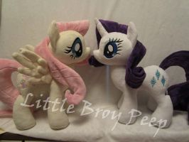 Mlp Rarity and Fluttershy (commission) by Little-Broy-Peep