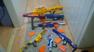 Me and mah friends Nerf Collection by sparity-bronieboy444