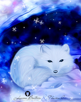 Arctic fox by LuhaBiha