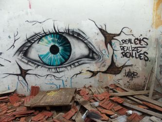 real eyes.realize.real lies by Unfor-street-arT