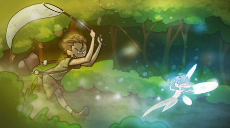 Fairy chase by Caehlynt