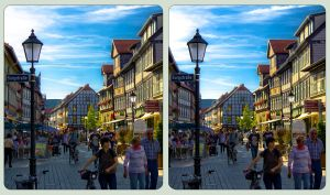 Wernigerode Burgstrasse 3D ::: Cross-Eye HDR by zour