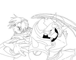 Alphonse Elric Lineart by montonico