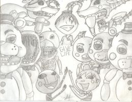 Five Nights At Freddy's 2 by Meow-Mic