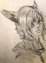 Male Miqo'te by Bhaal999