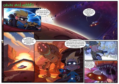 Calvin and Hobbes Tribute: Spaceman Spiff by Javas