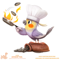 Daily Paint 1819# Cookin'tiel by Cryptid-Creations
