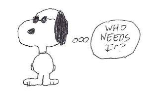 Snoopy as Joe Cool - Who Needs It by dth1971
