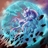 Mewtwo Y: You can't take me down! by OnixTymime