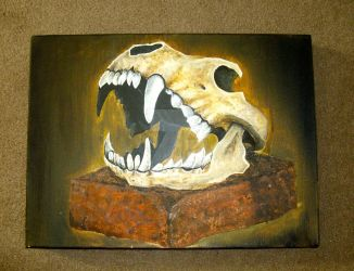 Lion skull painting by josephblacktattoos