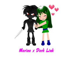 Marina and Dark Link chibi by spikerman87