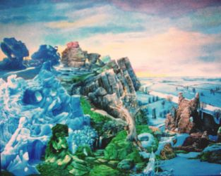 'The Ruins in Winter' by Tolkyes
