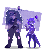 Tanzanite and Iolite |Mystery Gem| by SpaceCacctus