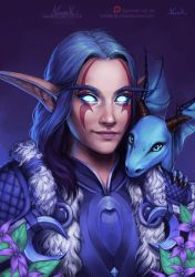 Warcraft Commission: Night Elf and Emmigosa by Naariel