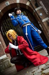 Fullmetal Alchemist - Edward Elric and Roy Mustang by Rei-Suzuki